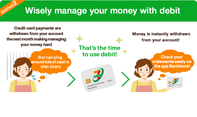 Method2 Wisely manage your money with debit