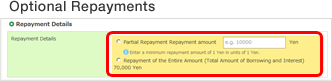 Optional Repayments
