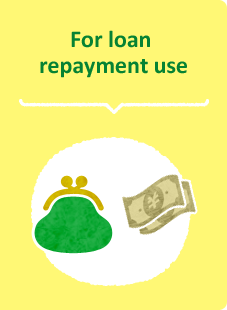 For loan repayment use